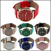 Relógios Feminino Geneva Pulseira De Couro Luxo Kit C/10 frete grátis, compre para revender
