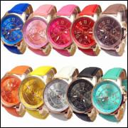 Kit 10 Relógios Feminino Geneva Couro Atacado/revenda frete grátis, compre para revender com ótima o