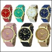 Relógio Feminino Dourado Geneva Promoção De Hoje, vendas no varejo