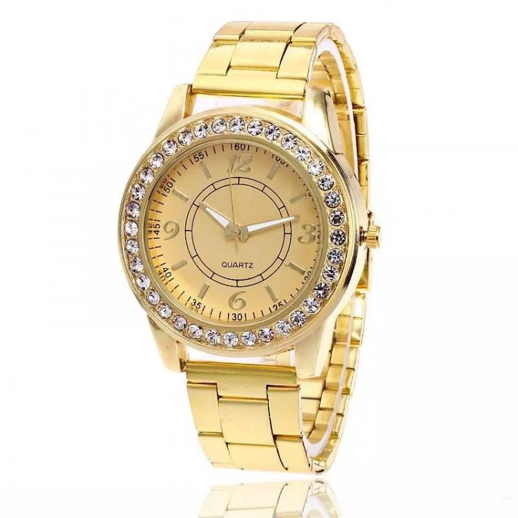 Relógio Feminino Dourado Menor Preço
