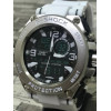 Relógio Aço Steel Masculino Analógico E Digital pulseira branca frete grátis