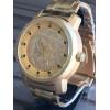 Relógio Masculino Luxo Prata Dourado Importado Relógio Top frete grátis