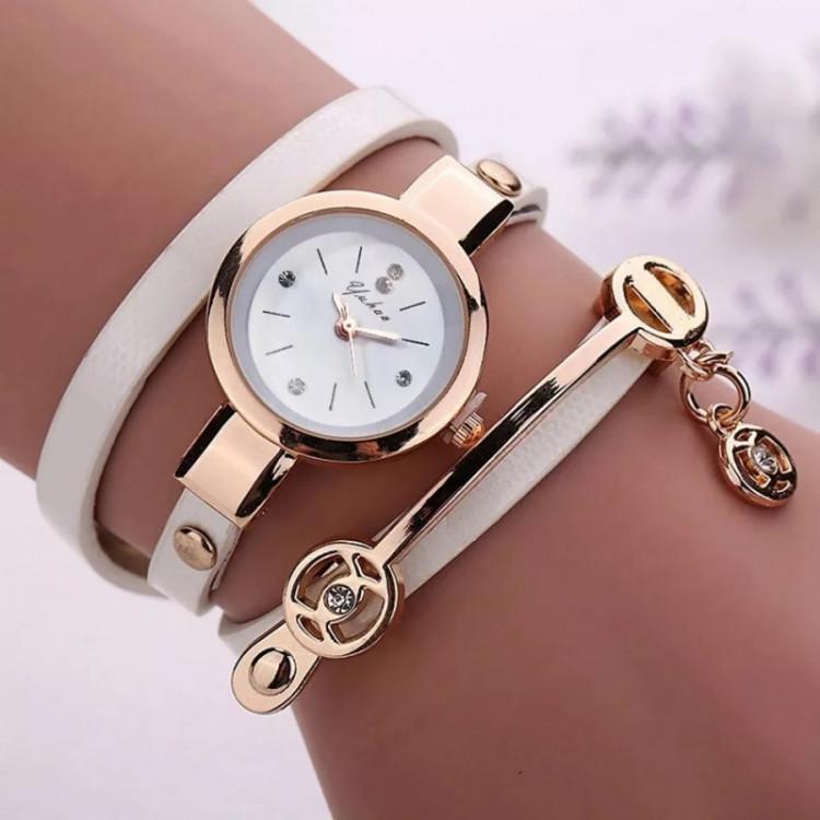 Relógios Feminino Pulseira Em Couro Retro Vintage branco