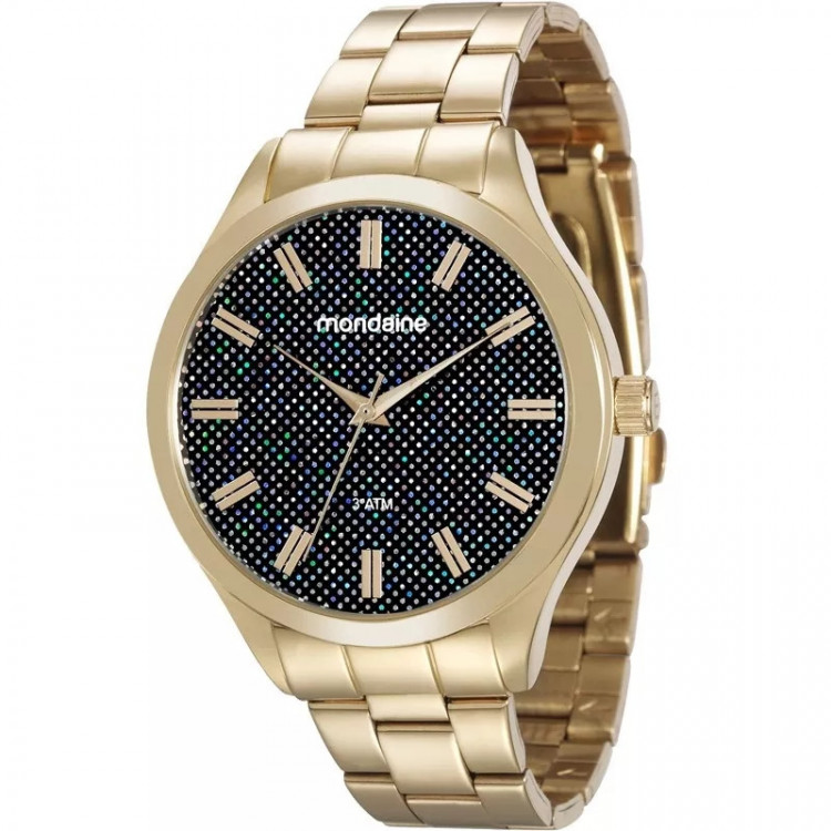 Relógio Mondaine Feminino Dourado Poá Moderno 76614lpmvd original garantia de fábrica e frete grátis
