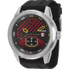 Relógio Seculus Masculino Prata Preto Silicone 90005g0svnu1-  frete grátis