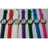 Kit 10 Relógios unissex com pulseira de silicone colorida  Atacado com frete grátis