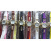 Kit 10 Relógios unissex com pulseira de silicone caixa quadrada ou redondo com frete grátis