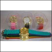 Kit/lote 10 Relógios Femininos Pulseira De Silicone Atacado frete grátis