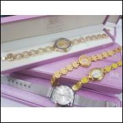 Kit 10 relógios Feminino Promoção Dos Namorados + caixa Atacado frete grátis, compre para revender